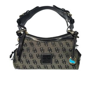 Dooney & Bourke Shoulder Bag Purse Canvas Leather
